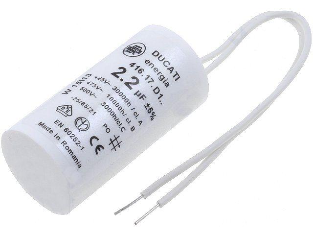 Condensateur démarrage moteur 2.2uF 475v 4-16-17-D1-06