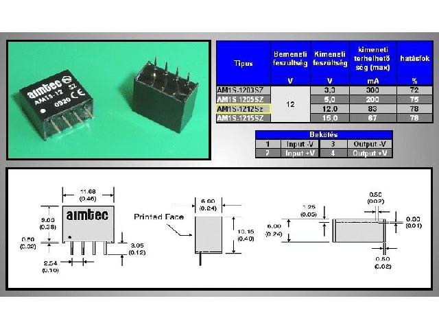 Module convertisseur DC-DC DC12-12S-1W