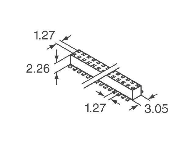 Connecteur 1.27mm M50-3120445