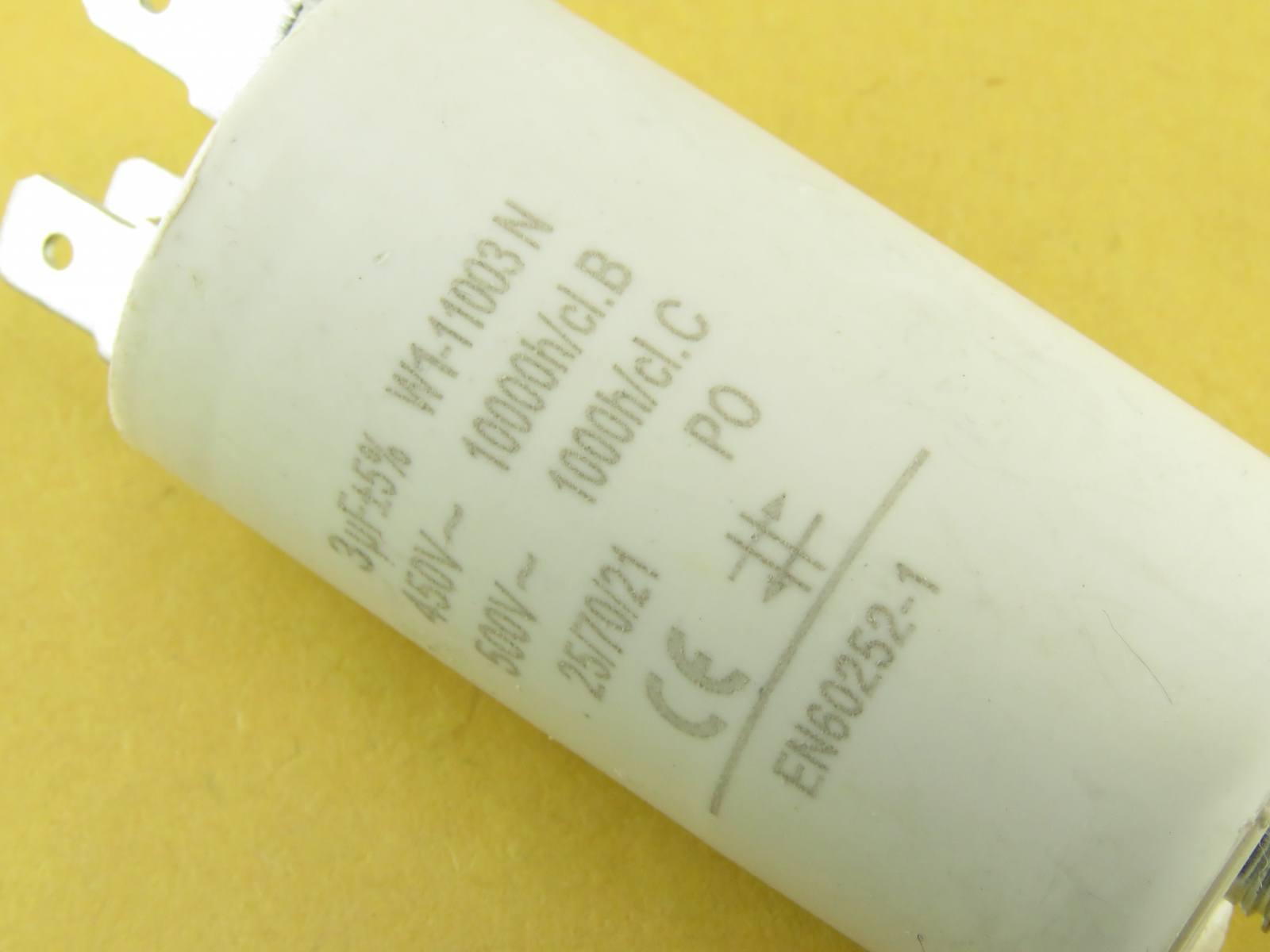 Condensateur démarrage moteur 3uF 450v MOTCAP3UF450V (image 2/3)